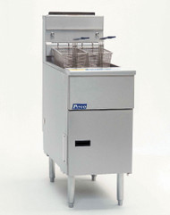Solstice™ Fryer, gas, floor model, full frypot, 40-50 lb. oil capacity, millivolt control ONLY, stainless steel tank, front, door & sides, 110,000 BTU, NSF, CE, CSA Flame, CSA Star, AuGA (free standing, stand alone only fryer - special price)