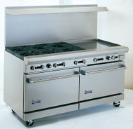 "Heavy Duty Gas Restaurant Range With Griddle, 60""w. - AR24G-6B"