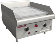 "Griddle, countertop, gas, 36"" W x 24"" D cooking surface, 1"" thick polished steel plate, thermostatic controls, battery spark ignition, flame failure safety device, stainless steel front, sides & 4"" adjustable legs, 90,000 BTU, CSA, NSF (Note: Qualifies for Southbend's Service First™ Program, see Service First document for details)"