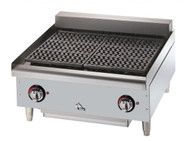 "Star-Max® Heavy Duty Charbroiler, electric, countertop, 24""W x 26""D, heavy cast iron removable grids, swing-up 3300 watt elements every 12"", chrome metal knobs, grease drawer, welded steel frame with stainless steel top, front and grease trough, aluminized steel sides, 4"" legs, cULus, UL EPH"