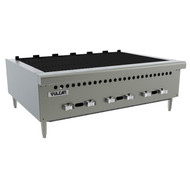"Charbroiler, gas, countertop, 25-3/8"", (4) 14,500 BTU cast iron burners, manual controls, low profile, reversible grates, (1) drawer, stainless steel front, sides & front top ledge, 4"" adjustable legs, 58,000 BTU, CSA, NSF"
