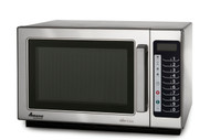 "Amana® Commercial Microwave Oven, 1000 watts, 1.2 cu. ft. capacity, medium volume, capacity to program 100 menus, 5 power levels, 4-stage cooking, braille touch pads, non-removable air filter, side hinged door with tempered glass, accommodates 14"" plate, stainless steel interior & exterior, 120v/60/1-ph, 1550 total watts, 13 amps, cord, NEMA 5-15P, cETLus"