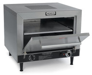 "Pizza Oven, electric, countertop, 2-deck, insulated, removable 19"" fibrament decks, tubular heating elements, thermostatic controls 300-700°F, 60 min. bell timer, automatically vented with a power fan, stainless steel construction, 6' cord & 5-15P, 120v/60/1ph, 1800 watts, 15 amps, 4"" adjustable legs, ETL, NSF"