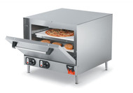 "Pizza/Bake Oven, electric, stainless steel exterior & interior, supplied with (2) ceramic bake decks, 15-minute timer function, shelf size 17-1/2"", 2-7/8"" between shelves, heat setting 140°F-750°F, 208-240v/60/1-ph, 10.1-11.6 amps, 2100-2800W, NEMA 6-15P, OA dimension 25-3/4""W x 23-1/8""D x 21-3/4""H, cooking chamber size 19-3/16""W x 18-1/2""D x 9-7/16""H, model# POA8002, NSF, cUL, imported"