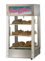 "Hot Food Display Case with Humidity Control, heated, countertop, 15""W x 15""D x 28.25""H, (16) sandwich capacity, (3) adjustable chrome plated wire shelves, 110°-175°F temperature control, humidity control with 3 quart capacity, low-water indicator and drain valve, incandescent light, heavy duty aluminum corners with stainless steel base, 3/16"" thick tempered glass door, cULus, UL EPH"