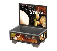"Cayenne® 72020 Full Size Rethermalizing Model 1220 Soup Merchandiser with Tuscan Graphics, BASE ONLY with FLUSH MOUNT MENU BOARD, 18-1/2"" x 26-1/4"" x 25-1/2"", 120v/60/1-ph, 1000 watts, 8.3 amps, NEMA 5-15P, UL, NSF, Made in USA"