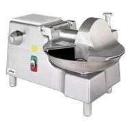 "Bowl Cutter with Built-In #12 PTO Hub 269 rpm, 18"" diameter stainless steel bowl 22 rpm, twin stainless steel knives 3,768 cuts/min, start/stop button, bowl cover interlock, polished & anodized aluminum construction, 1 HP motor, 5' cord & plug, ETL, NSF"