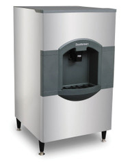 "iceValet® Hotel/Motel Ice Dispenser, floor model, push dispensing, approximately 180 lb storage capacity, designed for 30"" wide top mount cube-type ice makers, stainless front & sides, includes 6"" legs, 115v/60/1-ph, 2.1 amps, NSF, cULus. Shown with Prodigy Plus ice maker"