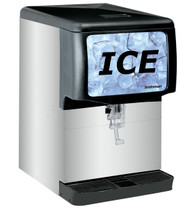 Ice Dispenser, counter model, 150 lb capacity, designed for cube-type ice, stainless steel exterior, cup activated, 115v/60/1-ph, NSF, cULus