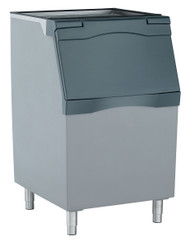 "Ice Bin, top-hinged front-opening door, 536 lb application capacity, for top-mounted ice maker, polyethylene liner, rotocast plastic construction, includes 6"" legs, NSF"
