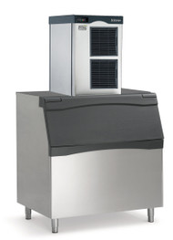 Prodigy Plus® Ice Maker, nugget style, air-cooled, self-contained condenser, production capacity up to 956 lb/24 hours at 70°/50° (784 lb AHRI certified at 90°/70°), Auto-alert™ indicating lights, stainless steel finish, R-404A refrigerant, 208-230v/60/1-ph, 13.2 amps, NSF, cULus, ENERGY STAR®. Shown with optional bin.
