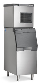 Prodigy Plus® Ice Maker, nugget style, air-cooled, self-contained condenser, production capacity up to 420 lb/24 hours at 70°/50° (348 lb AHRI certified at 90°/70°), Auto-alert™ indicating lights, stainless steel finish, R-404A refrigerant, 115v/60/1-ph, 15.2 amps, NSF, cULus. SHOWN WITH OPTIONAL BIN.