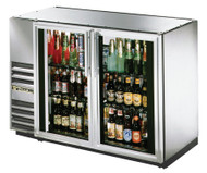 "Back Bar Cooler, two-section, 24"" deep, 34-1/4"" high, (48) 6-packs or (2) 1/2 keg capacity, (4) wire shelves, condensing unit on left, galvanized sub top, galvanized interior with stainless steel floor, stainless steel front & sides, aluminum back, (2) glass doors, LED interior light, R290 Hydrocarbon refrigerant, 1/5 HP, 115v/60/1, 2.7 amps, NEMA 5-15P, cULus, UL EPH Classified, MADE IN USA, ENERGY STAR®"