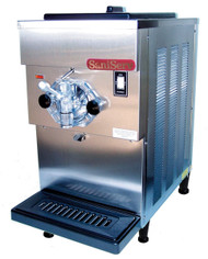 Soft Serve/Yogurt Freezer, counter model, air or water cooled, self-contained refrigeration, 1 head, 20 qt. mix capacity, welded steel frame, stainless steel exterior, electronic consistency control, automatic audible/visual mix out system, 1 HP dasher, 1 HP compressor, UL, cUL, NSF