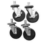 "Casters, 5"" wheel, rubber bumper (set of 4) (2) braked"