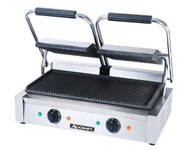 Double Sandwich Grill w/Grooved Plates ADCRAFT SG-813