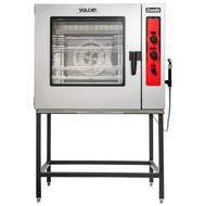 """Combi Oven/Steamer, electric, boilerless, (7) 18"""" x 26"""" full size sheet or (14) 12"""" x 20"""" full size hotel pan capacity, (3) knobs with LED displays for temperature, timer & humidity, auto-adjustment of humidity with temperature selection, auto-reversing fan with electronic braking system, cool to touch glass door, flashing door light and audible alert, (4) Grab n Go wire racks, stainless steel interior & exterior, engineered & assembled in USA, NSF/ANSI 4, cULus"""