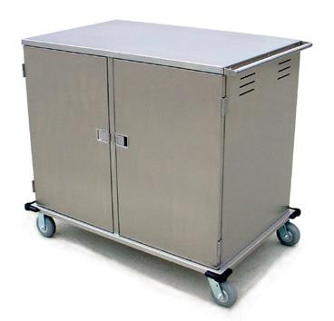 """Elite Series™ Tray Truck, enclosed, low-profile double compartment, non-insulated, capacity (24) 14"""" x 18"""" or 15"""" x 20"""" trays, 5-1/4"""" ledge spacing, stainless steel construction, NSF"""