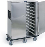 """Premier Series™ Tray Truck, enclosed, double compartment, non-insulated, capacity (20) 14""""x18"""" or 15""""x20"""" trays, 5"""" ledge spacing, stainless steel construction, (4) 6"""" swivel casters (2) with brakes, (2) 6"""" fixed casters, full perimeter bumper, NSF"""