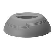 "The Shoreline Collection Dome, insulated, fits 9"" plate, outside dia. 10-1/4"", 3-3/16""H, speckled gray, polypropylene"
