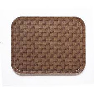 "Camtray®, rectangular, 15"" x 20-1/4"", high-impact fiberglass, color permanently molded into tray, dishwasher safe, dark basketweave, NSF"