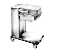 "Caddy Magic Tray Dispenser, cantilever style, unheated, single stack, for 16"" x 22"" trays (end load), cap.: up to 75 trays, self-leveling platform, 4"" swivel casters"
