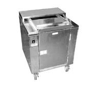 "Heated Dish Storage Cart, insulated, rotary design, enclosed, dish dividers for 160- 9"" max diameter plates or bowls, stainless steel base and dividers, 5"" casters, 120/60/1-ph, 2100w, 17.5amps, NEMA 5-20P, cUL, NSF"