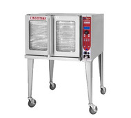 "HydroVection™ Oven, Electric, full size capacity (5) 18"" x 26"" pans, glass door, (5) stainless steel racks and (9) rack positions, cavity vent, manual controls, four speed auto-reversing fan motor, core probe, stainless steel construction, 25"" adjustable stainless steel legs, 15.0 kW, 1/2 hp, ETL, NSF"