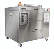 Waste System, Dehydrator, 320 lbs. capacity, 14 -19 hour cycle, programmable logic controller, motor overload sensor eliminates jams, one button start/load/un-load for easy operation, bin counter for no overloading of machine, moisture sensor for energy savings, emergency shut-off, casters for easy movement, UL Rated Control Panel, 208v/60/3-ph (PHX-100 SHOWN)