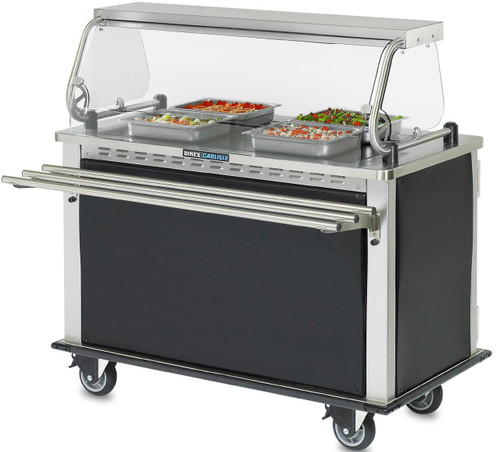 Meal Time Express; heated with 3 Bar Fold Down Tray Slide, (for MealtimeXpress™, Hold-N-Serv & Perfect Serv II systems)
