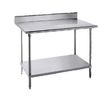 """Top is furnished with 1-5/8"""" sanitary rolled rim edges on front,1 5/8"""" square side edges back and square side edges, and a 5"""" splash with a 1"""" return on the rear side."""