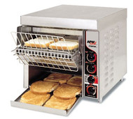 "Fastrac™ Conveyor Toaster, electric, countertop, (1000) slices/hour capacity, 3""H opening, top & bottom controls, metal sheathed heating elements, variable speed, power saving switch, thermostatically controlled fan, extended feeder, stainless steel housing, 1"" legs, cULus, NSF, CE"