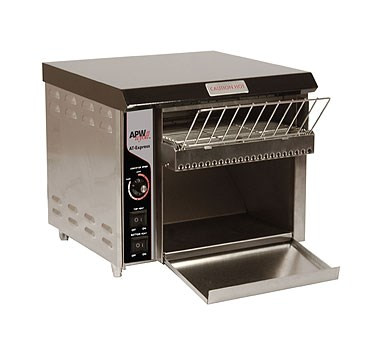"""X*Press Conveyor Toaster, electric, countertop, (350) slices/hour capacity, 1-1/2""""H opening, 10""""W belt, metal sheathed heating elements, variable speed, power saving switch, stainless steel housing, painted aluminum front corners, 1"""" adjustable legs, cULus, CE"""