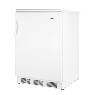 Undercounter Refrigerator, single-section, freestanding, 5.5 cu. ft. capacity reversible door with shelf storage, adjustable wire shelves & thermostat, automatic defrost, interior light, plastic handle, white cabinet & door finish, 115v/60/1, cord, UL (Residential)