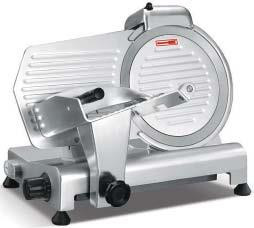 """Meat Slicer, manual, 12"""" diameter knife, angle/gravity feed, medium duty, top-mounted metal sharpener with (2) grinding stones, belt driven, stainless steel blade, removable ball-bearing carriage, permanently attached ring guard, anodized aluminum, non-slip rubber feet, 110v/60/1-ph, 1/2 HP, NEMA 5-15P, ETL, cETLus"""