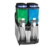 34000.0081 ULTRA-2 High Performance Ultra Gourmet Ice® Frozen Drink Machine, counter model, (2) 3 gallon hoppers, internally monitored refrigeration system, touchpad display, reversing auger design freeze time & reduces air mixing, stainless steel & black decor, cord attached, 120v/60/1-ph, 12amps, NEMA 5-15P, NSF, ETL