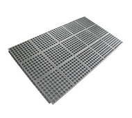 "Anti-Fatigue Floor Mat, 3' x 5', 7/8"" thick, heavy duty rubber matting, anti-slip connector strip on one side, grease resistant, black"