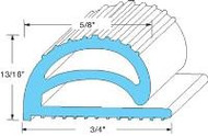 Gasket, compression, per ft. (ICS item R100)