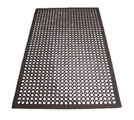 "Floor Mat, 3' x 5' x 1/2"" thick, anti-fatigue, beveled edges, rubber, black (call for pallet rate)"
