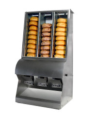 "(3)  compartment Bagel Dispenser W 17"" X D 15"" X H 33"". Constructed of durable and attractive 304 polished stainless steel. NSF listed"