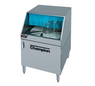 """Glasswasher, underbar type, low temperature chemical sanitizing, rotary conveyor design, 25-1/4"""" cabinet, clockwise rotation, drain tray & waste collector, stainless steel construction, access door on front, approx 1000 2-1/2"""" glasses/hr"""