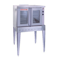 "Convection Oven, Electric, single deck, full size capacity (5) 18"" x 26"" pans, double glass doors, (5) stainless steel racks and (11) rack positions, chrome plated door handle, manual controls, cooling fan, stainless steel construction, 25"" adjustable stainless steel legs, 11.0 kW, 1/2 hp blower, cETL, NSF, ENERGY STAR"