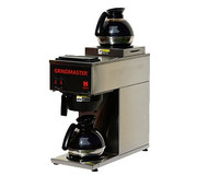Coffee Brewer, portable, pour-over capability, single, temperature-controlled, brews directly into decanters, 1.2 gallon tank capacity, (2) warmers, stainless steel construction, 120v/60/1-ph, 15 amps, 1600 watts, NEMA 5-15P, NSF (Grindmaster)