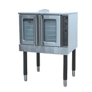 """Black Diamond Convection Oven, 54"""", natural gas, full size, 20"""" x 21-1/2"""" x 28-1/4"""" porcelain enamel interior, 10 position guide rack, side hinged double doors, double pane thermal glass windows, 150°F to 550°F temperature range, interlock switch on doors, two speed fan motor, 32"""" long steel legs with powder black finish, adjustable feet, stainless steel, includes: (5) heavy duty chrome plated racks, timer with manual shut off, indicator light, 3/4"""" NPT, 1/4 HP, 120v/60/1-ph, 6"""" power cord, NEMA 5-15 plug, 54,000 BTU, cETLus, ETL"""