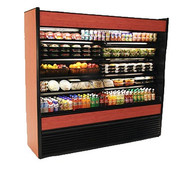 "50 Hz Oasis® Self-Service Refrigerated Merchandiser, 66-3/8""W, high profile, open front, (4) non-lighted shelves, top light, Breeze™ with EnergyWise self-contained refrigeration system, Blue Fin coated coil, one piece formed ABS plastic tub, black interior, laminate exterior, full end panels with mirror, cETLus, ETL-Sanitation"