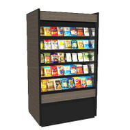 "50 Hz Oasis® Self-Service Non-Refrigerated Ambient Merchandiser, 59-5/8""W, high profile, open front, (4) non-lighted shelves, top light, black interior, full end panels with mirror, cETLus, ETL-Sanitation"