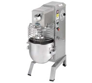 50 Hz Food Mixer, countertop, 20-qt. capacity, variable speed drive, includes removable SwingRing safety guard, stainless steel bowl, batter beater, wire whip, dough hook, and bowl scraper, 1/2 HP, ETL, NSF, Made in USA