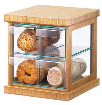 Cal Mil 1718 60 4 Drawer Countertop Bread Pastry Display Case