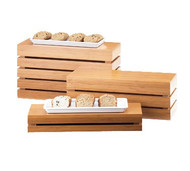 "Crate Riser, rectangle, 20""W x 7""D x 3""H, flip to utilize as a basket, bamboo"