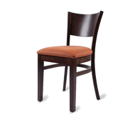 Side Chair, solid wood back, upholstered seat, European beech wood frame, COM/grade 6 uph.